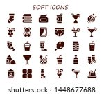 soft icon set. 30 filled soft...   Shutterstock .eps vector #1448677688