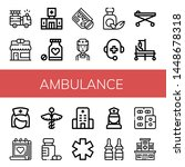set of ambulance icons such as... | Shutterstock .eps vector #1448678318