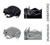 vector illustration of wildlife ... | Shutterstock .eps vector #1448693342