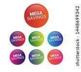mega savings   glossy label.... | Shutterstock .eps vector #1448699342