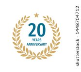20 th years anniversary badge... | Shutterstock .eps vector #1448704712