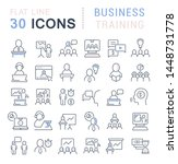 set of vector line icons of... | Shutterstock .eps vector #1448731778