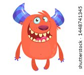 cartoon furry monster.... | Shutterstock . vector #1448741345