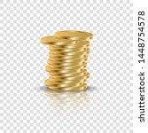 realistic golden coins stack on ...   Shutterstock .eps vector #1448754578