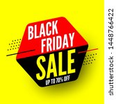 black friday sale banner  up to ... | Shutterstock .eps vector #1448766422
