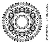 round lace vector black pattern ... | Shutterstock .eps vector #1448770232