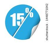 round sticker percent discount. ... | Shutterstock .eps vector #1448771042