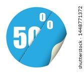 round sticker percent discount. ... | Shutterstock .eps vector #1448771372