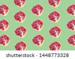 fruit pattern of pomegranates...   Shutterstock . vector #1448773328