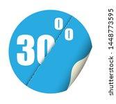 round sticker percent discount. ... | Shutterstock .eps vector #1448773595