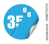 round sticker percent discount. ... | Shutterstock .eps vector #1448773715