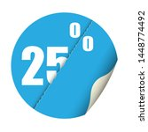 round sticker percent discount. ... | Shutterstock .eps vector #1448774492