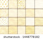 abstract hand drawn geometric... | Shutterstock .eps vector #1448778182