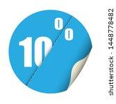 round sticker percent discount. ... | Shutterstock .eps vector #1448778482