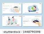 ecology web page concepts. web...   Shutterstock .eps vector #1448790398