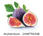 Fresh Figs Isolated On White...