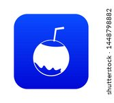 coconut with straw icon digital ...   Shutterstock . vector #1448798882