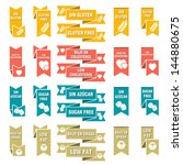 set of labels for food | Shutterstock . vector #144880675