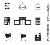 store icon set isolated vector... | Shutterstock .eps vector #1448820368