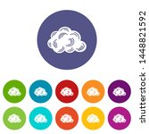 cloud icons color set for any...