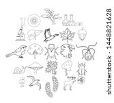 fauna icons set. outline set of ... | Shutterstock . vector #1448821628