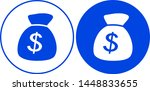 money bag icon. vector... | Shutterstock .eps vector #1448833655