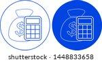 money bag icon. vector... | Shutterstock .eps vector #1448833658