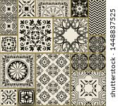 seamless patchwork tile with... | Shutterstock .eps vector #1448837525
