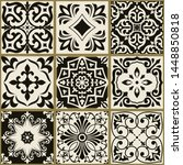 collection of 9 seamless tiles... | Shutterstock .eps vector #1448850818