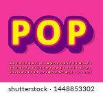 modern old pop art font effect... | Shutterstock .eps vector #1448853302