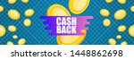 vector cash back icon with...   Shutterstock .eps vector #1448862698