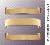 old vintage paper ribbon scroll ...   Shutterstock .eps vector #1448863775