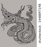 hand drawn silhouette thai... | Shutterstock .eps vector #1448897198