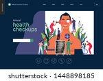annual health checkups  medical ... | Shutterstock .eps vector #1448898185