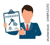 ompensation for financial... | Shutterstock .eps vector #1448912192