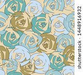 floral seamless pattern. for... | Shutterstock .eps vector #1448916932