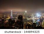 hong kong island from victoria... | Shutterstock . vector #144894325