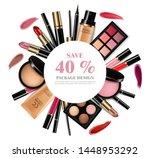 cosmetics set vector realistic. ...   Shutterstock .eps vector #1448953292