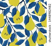 seamless pattern with yellow... | Shutterstock .eps vector #1448982482