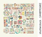 ethnic handmade ornament for... | Shutterstock .eps vector #1448992682