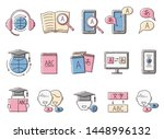 translation and foreign... | Shutterstock .eps vector #1448996132