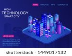 smart city with business center ...   Shutterstock .eps vector #1449017132