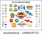 vintage retro vector for banner ... | Shutterstock .eps vector #1449019712