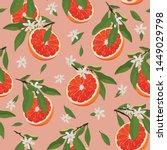 orange fruits slice seamless... | Shutterstock .eps vector #1449029798