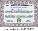 red horizontal certificate... | Shutterstock .eps vector #144903172