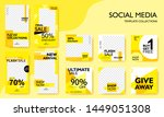 social media pack template for... | Shutterstock .eps vector #1449051308