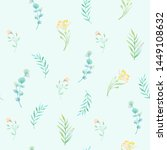 watercolor seamless pattern.... | Shutterstock . vector #1449108632