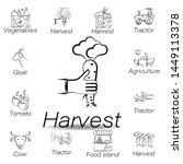 harvest hand draw icon. element ...