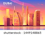 dubai  uae city view. united... | Shutterstock .eps vector #1449148865