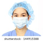 headshot of a woman in medical...   Shutterstock . vector #144915388